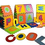 Puzzlematte 86 tlg. - Kinderspielteppich Spielmatte Spielteppich Schaumstoffm...