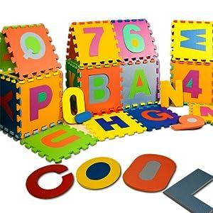 Puzzle enfant en bas âge en mousse 86 pièces alphabet chiffre tapis