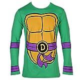 Teenage Mutant Ninja Turtles Donatello Costume Longsleeve Adult T-Shirt (Large)