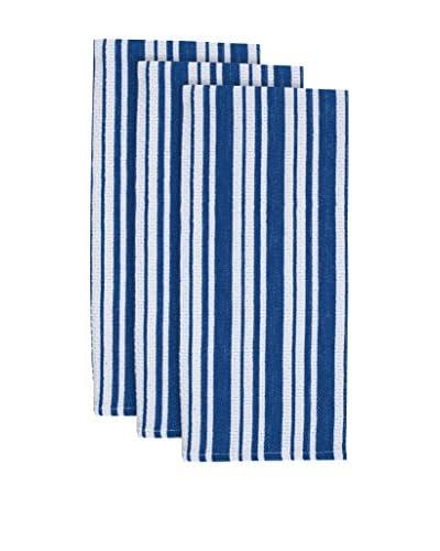 KAF Home Set of 3 Basket Weave Towels, Snorkel