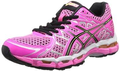 ASICS Women's Gel-Surveyor 2 Running Shoe,Neon Pink/Black/Flash Yellow,5 M US