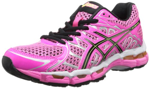 ASICS Women's Gel-Surveyor 2 Running Shoe,Neon Pink/Black/Flash Yellow,8.5 M US
