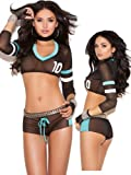 Sexy Sheer Black Fantasy Football Lingerie Costume Set thumbnail