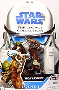 Jedi Master Yoda with Kybuck SL2 - Star Wars Saga Legends The Legacy Collection von Hasbro