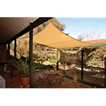 Square Coolaroo Shade Sail with Hardware Kit