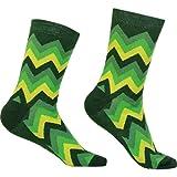 Zack grün Sionyx Socken für Sport und Freizeit Fahrradsocken Sommersocken