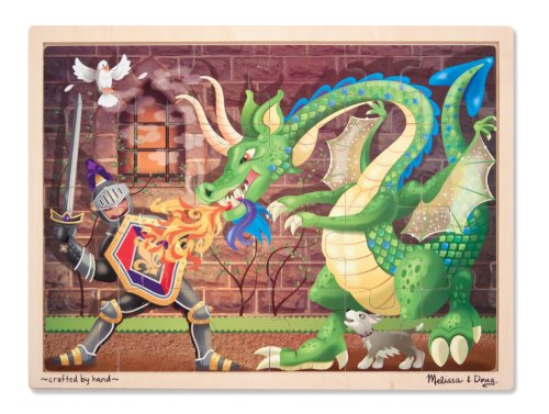 Melissa & Doug Knight vs. Dragon Jigsaw Puzzle (48-Piece) - 1