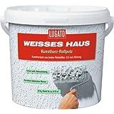 Lugato Weisses Haus Kunstharz Rollputz - Körnung 0,5 mm 8 kg