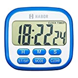 Habor Digital Kitchen Timer magnetic Electric Cooking Fitness Timers Countdown Loud Second Kid Clock