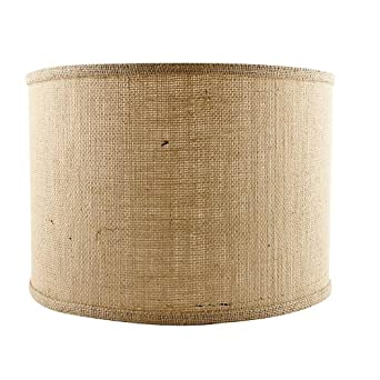 drum pendant replacement shade burlap 12 ballard. Black Bedroom Furniture Sets. Home Design Ideas