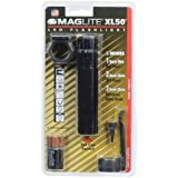 Maglite XL50-S301C LED XL50 Tactical Blister Pack, Black