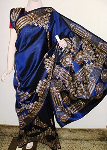 Madhumita's Boutique Kantha Stitch Saree on Bangalore Silk