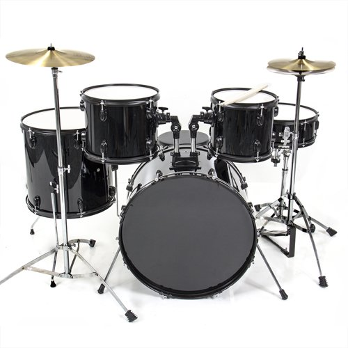 Drum Set 5 Pc Complete Adult Set Cymbals Full Size