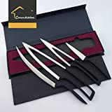 Chef Knife 5cr17mov Stainless Steel Meeting Kitchen Knives Set Cutlery 4pcs Premium Quality