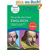 PONS Der große Abi-Check Englisch: Prüfungswissen auf einen Blick