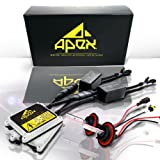"Apex HID Xenon Conversion Kit ""All Bulb Sizes and Colors"" with Premium Slim Ballasts (H10 (9145), 30k pink / exotic)"