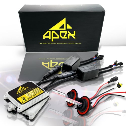 "Apex H4 ( 9003 / Hb2 ) Low / High Halogen (Low-Beam Xenon/ High-Beam Halogen) Xenon Hid Conversion Kit ( 5K 5000K Oem White Color ) With "" High Intensity Dc Digital Type Ballasts "" All Bulbs Sizes Hids Light Kits"