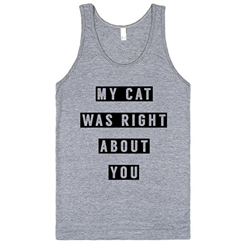 My Cat Was Right About You | M Athletic Grey Tank