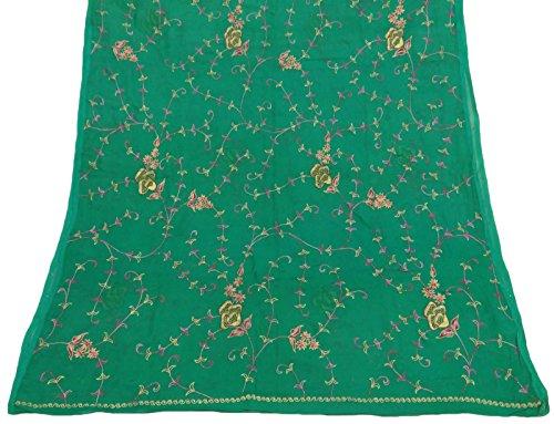 jahrgang-dupatta-lange-stola-reiner-chiffon-silk-grun-gestickter-verpackungs-schleier-hijab