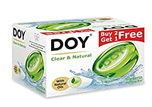 doy glycerin transparent clear and natura soap 125g pack of 3 baby. Black Bedroom Furniture Sets. Home Design Ideas