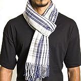 Alpine Swiss Winter Scarf Soft Elegant Long Fashion Wrap Scarves Blue Plaid