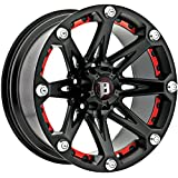 Ballistic Jester 17x9 Black Wheel / Rim 5x5 with a -12mm Offset and a 83.70 Hub Bore. Partnumber 814790550-12FB