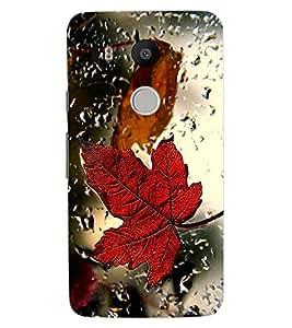 ColourCraft Lovely Leaf in Rain Design Back Case Cover for LG GOOGLE NEXUS 5X