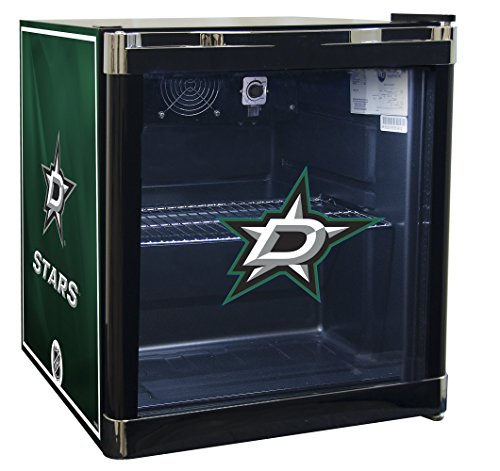 NHL Dallas Stars Refrigerated Beverage Cooler, 1.8 cu. ft., Black Graphic (Refrigerated Ice Chest compare prices)
