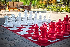 "MegaChess Red Giant Plastic Chess Set with a 25"" King"
