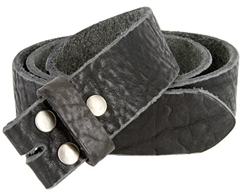 Mens Full Grain Genuine Cowhide Leather Belt Strap Hand-Crafted In USA (Black,34)
