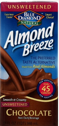 Blue Diamond Breeze Unsweetened Chocolate 32.0 FO (Pack of 6)
