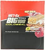 MET-Rx Big 100 Colossal Meal Replacement Bar, Crispy Apple Pie, 12 Bars, 3.52 Ounces