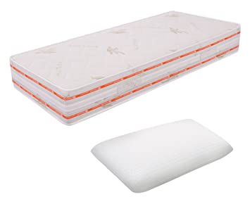 Nur Matratze Memory-Schaum 6abnehmbar 90x 200cm Höhe 25cm 12cm hoch Cushion Jalousie Entspannung ORTOPEDICO