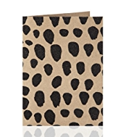 Love to Design Black Flitter Spot Design Greetings Card