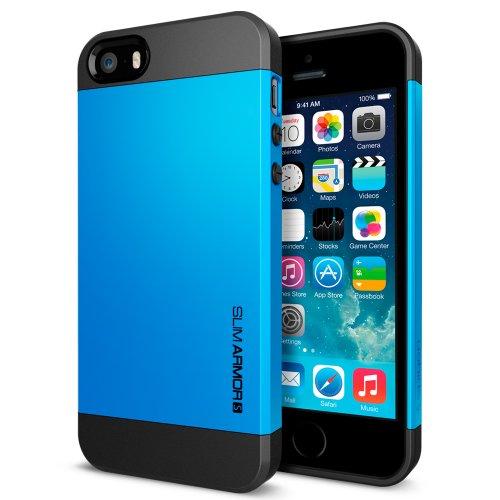 国内正規品SPIGEN SGP iPhone5/5S ケース スリムアーマーS [ドジャーブルー] SGP10474