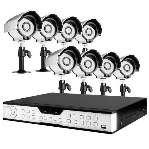 16Ch H.264 Dvr 1Tb Hd & 8 Sony Ccd 420Tvl 24 Ir Leds Outdoor Security Cameras