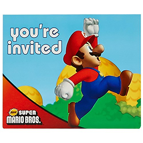 Super Mario Brothers Invitations w/ Envelopes (8ct)