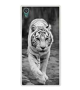 White Tiger 2D Hard Polycarbonate Designer Back Case Cover for Sony Xperia Z5 :: Sony Xperia Z5 Dual