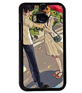 Printvisa Love Couple In A Sunflower Field Back Case Cover for HTC One M8::HTC M8