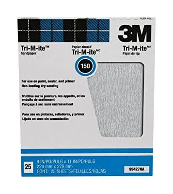 3M Pro-Pak Tri-M-ite Fre-Cut Sanding Sheets, 9-Inch by 11-Inch, 25-Pack
