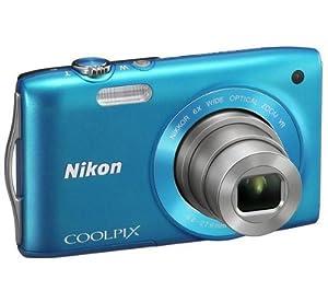 NIKON S3300 - blue Plus 8 GB SDHC Memory Card Plus Ultra Compact Case Plus ENEL19 lithium battery - Nikon EN-EL19 battery equivalent