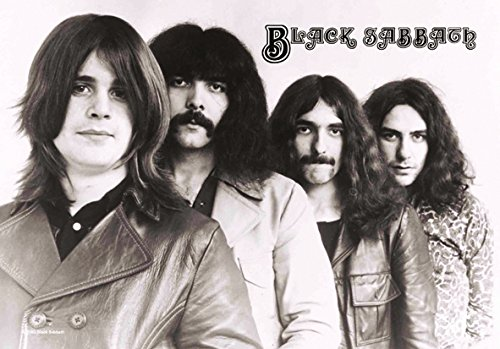 Heart Rock Licensed Bandiera Black Sabbath - Band 3, Tessuto, Multicolore, 110X75X0,1 cm
