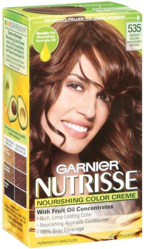 ... Nutrisse Haircolor, 535 Medium Golden Mahogany Brown Chocolate Caramel