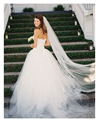 Belle House Ivory Tulle Sheer Wedding Bridal Veils Cathedral for Bride 11059-2