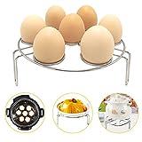 Egg Steamer Rack, Alamic Egg Rack Steamer Trivet Basket Stand for Instant Pot and Pressure Cooker, Stainless Steel Heavy Duty