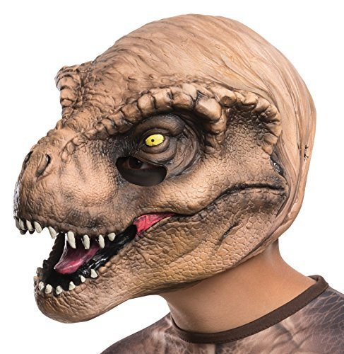 Rubie's Costume Jurassic World T-Rex Child Mask Costume Size: One Size Color: Tan / Brown, Model: 36609_NS, Toys & Play