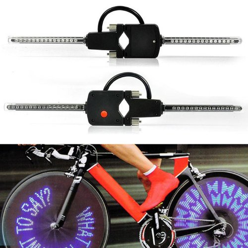 Tpt Full Set Durable New Style Waterproof Pc Programmable Wireless Led Custom Message Bike Cycle Motor Wheel Lights