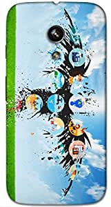 Timpax protective Armor Hard Bumper Back Case Cover. Multicolor printed on 3 Dimensional case with latest & finest graphic design art. Compatible with Motorola Moto -G-1 (1st Gen )Design No : TDZ-26878