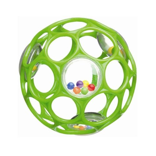 Rhino Toys Oball Rattle, Light Green