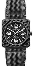 Bell and Ross Aviation Carbon Fiber Black Dial 46 MM Automatic Mens Watch BR-01-92-CARBON-FIBER
